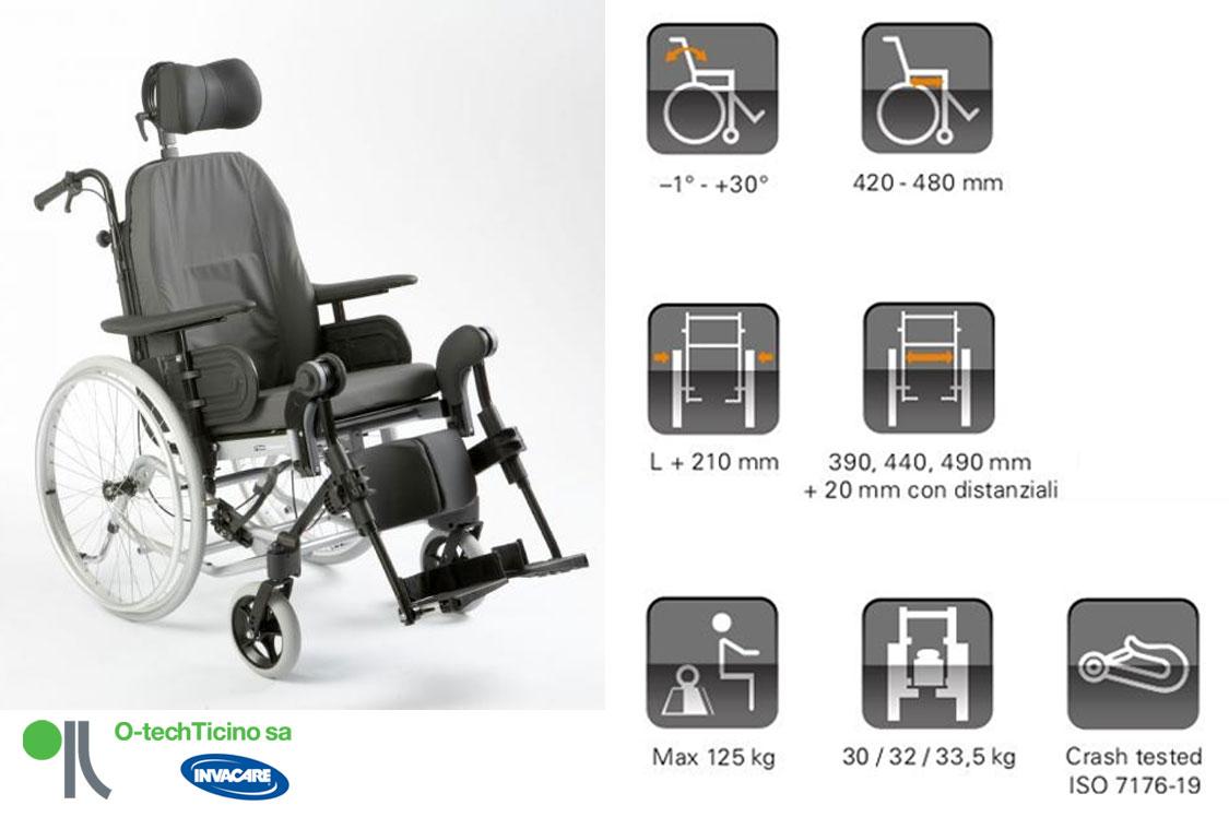 sedia a rotelle passive e adattamenti individuali